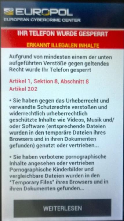Screenshoot Trojaner / Quelle: Bayrisches LKA